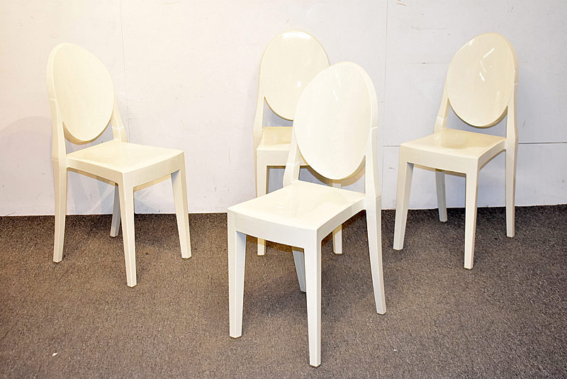 264. Four Philippe Starck-Style Stacking Side Chairs |  $70.80