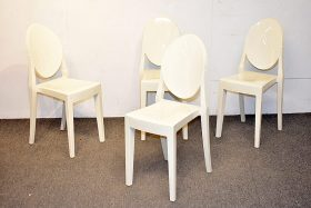 264. Four Philippe Starck-Style Stacking Side Chairs    $70.80