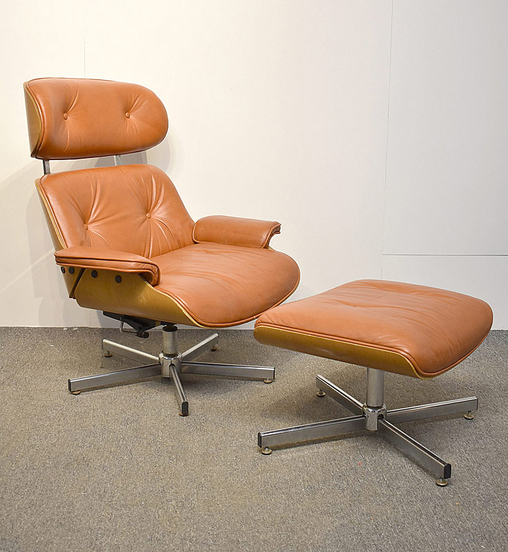 272. Eames-Style Lounge Chair and Ottoman |  $123