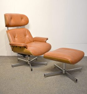 272. Eames-Style Lounge Chair and Ottoman    $123
