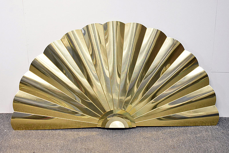 275. Modernist Brass Rising Sun Wall Hanging |  $23.60