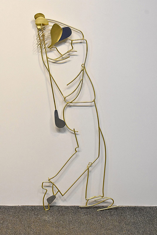 276. Curtis Jere Wall Sculpture: Golfer |  $123