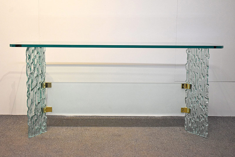 279. Decorator Glass Console Table |  $206.50