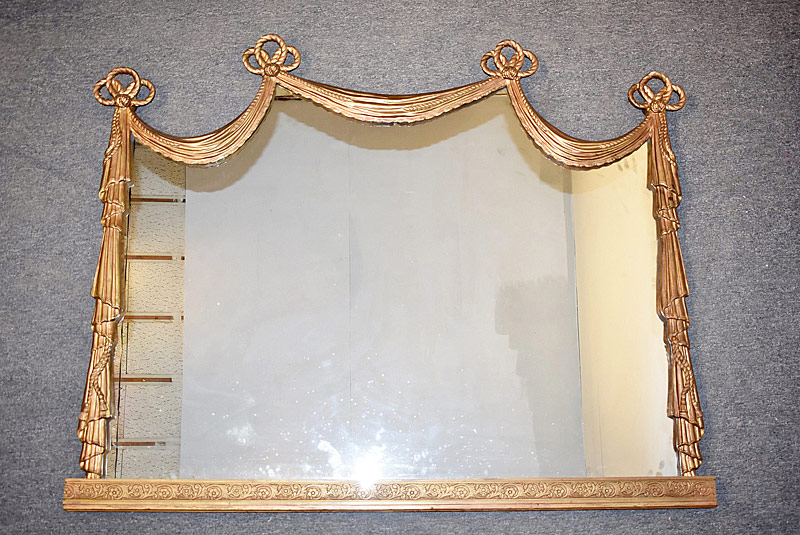 281. Gilt Swag-Decorated Overmantle Mirror |  $338.25