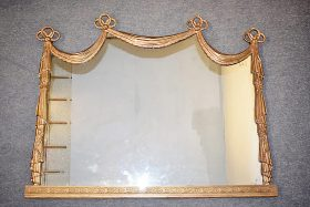 281. Gilt Swag-Decorated Overmantle Mirror    $338.25