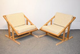 282. Pair of Modernist Sling Lounge Chairs    $738