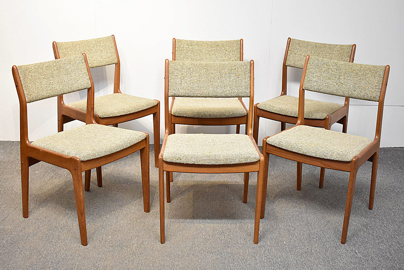 289. Six Scandanavia Woodworks Teak Dining Chairs |  $738