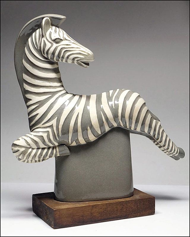 295. Waylande Gregory Glazed Ceramic Zebra Figure |  $676.50
