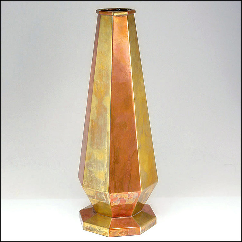 296. French Art Deco Brass and Copper Vase |  $472