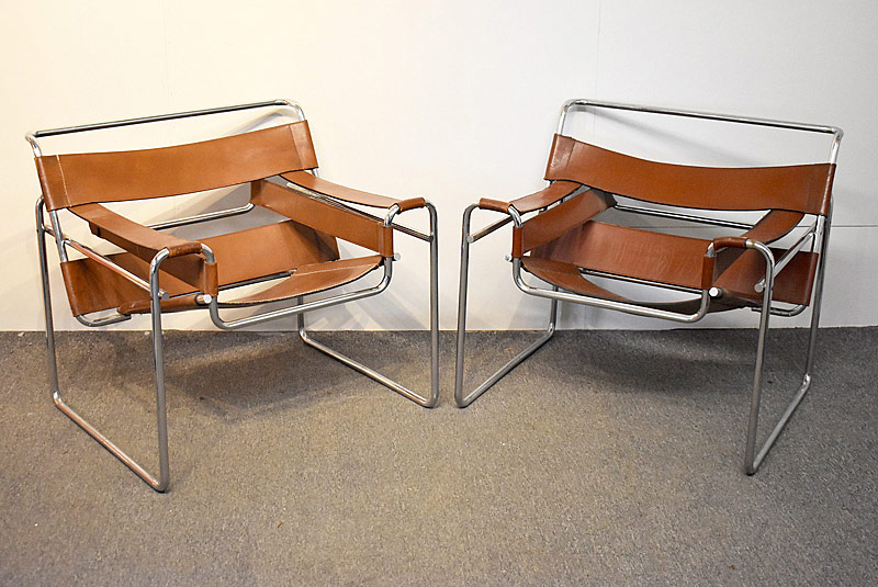 308. Pr. Marcel Breuer Wassily Lounge Chairs |  $922.50