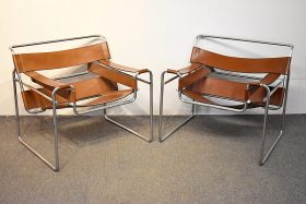 308. Pr. Marcel Breuer Wassily Lounge Chairs    $922.50
