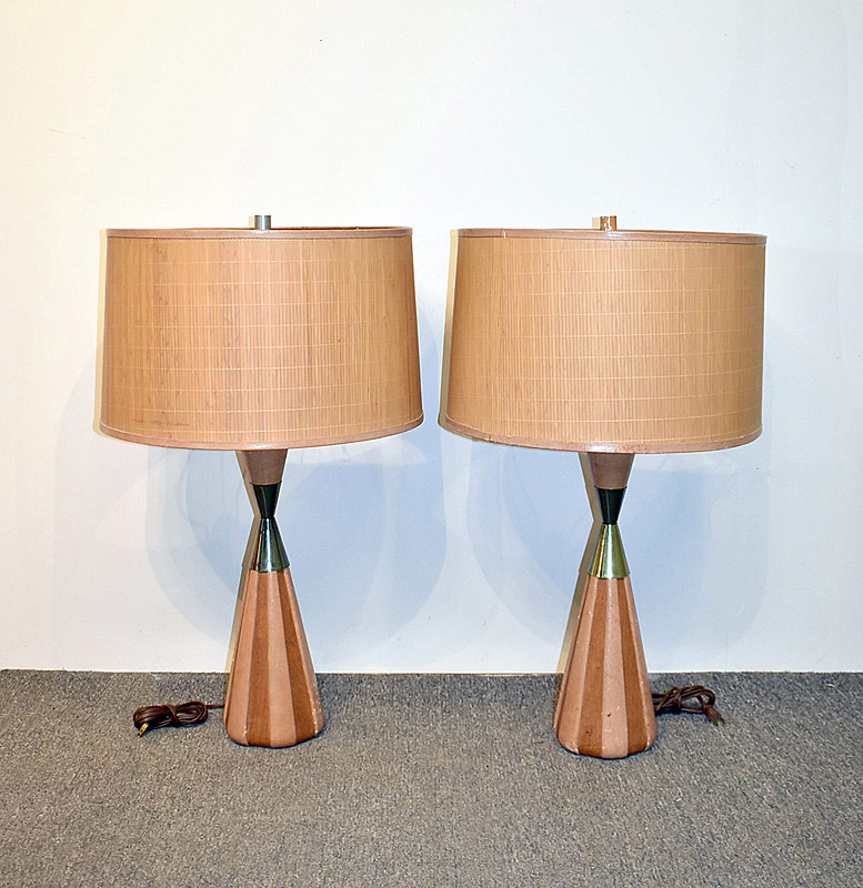 314. Pair of Modern Design Table Lamps |  $153.75