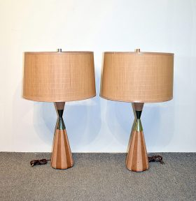 314. Pair of Modern Design Table Lamps    $153.75