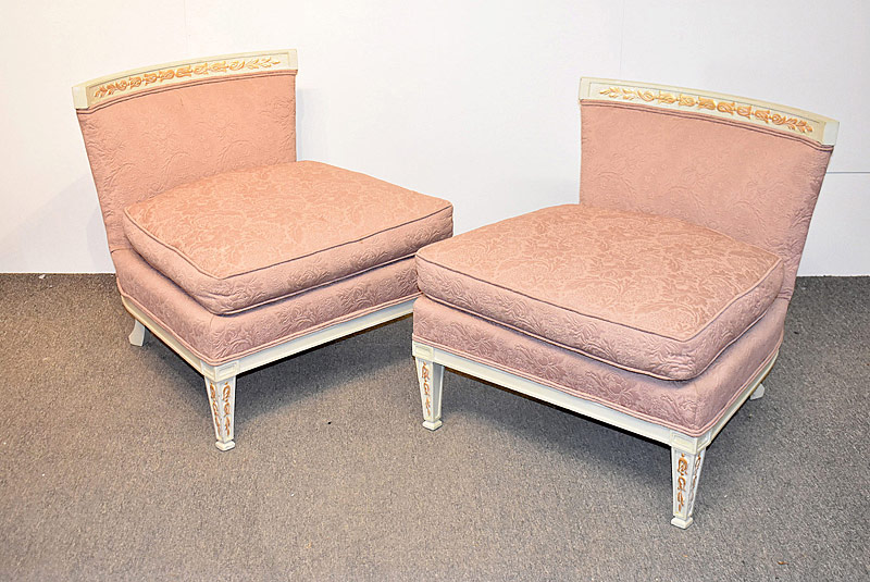 315. Pair of Carved and Painted Slipper Chairs |  $236