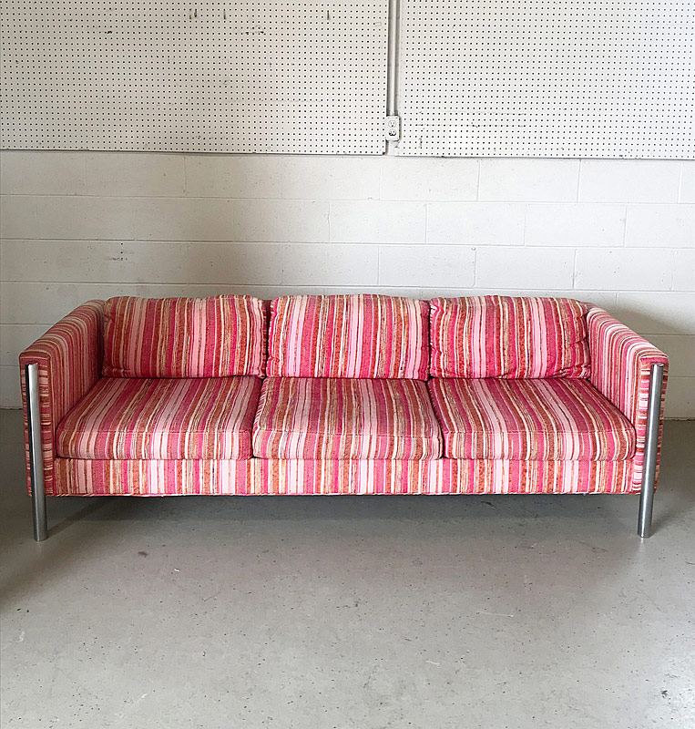 316. Selig Monroe Chrome Modernist Sofa |  $354