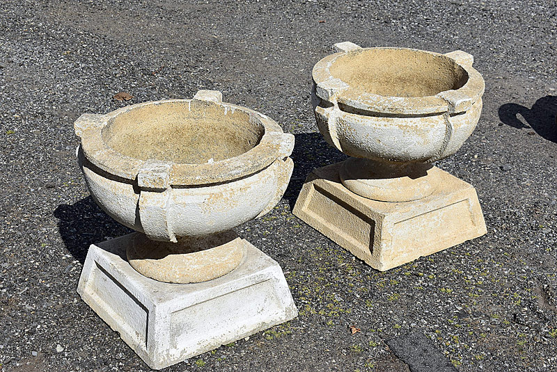 319. Pr. Two-Piece Cement Garden Planters |  $147.50