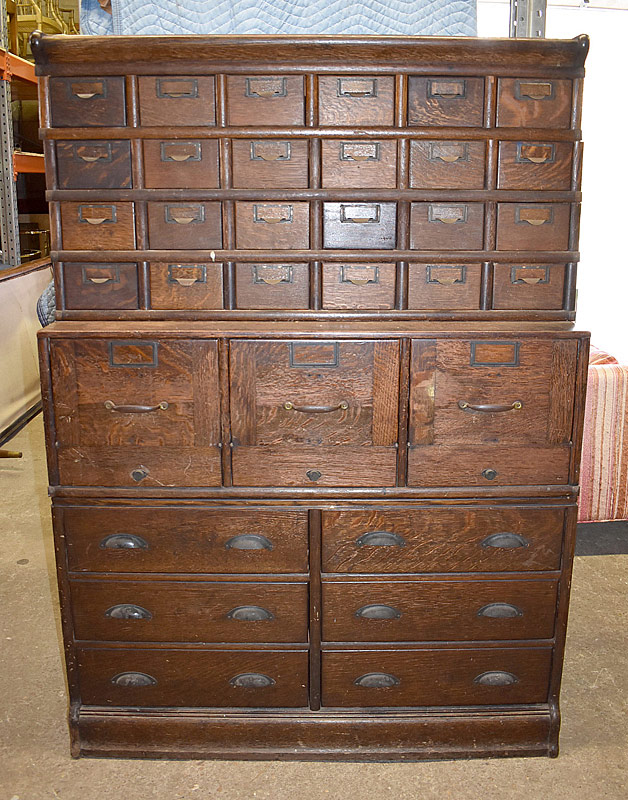 321. Globe-Wernicke Stacking Oak File Cabinet |  $1,180