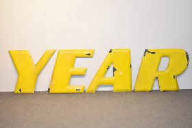 324. 8 Embossed Porcelain GOODYEAR Letters    $944
