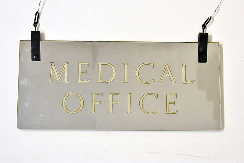 329. Glass Dbl-Sided Mirrored Medical Office Sign |  $47.20