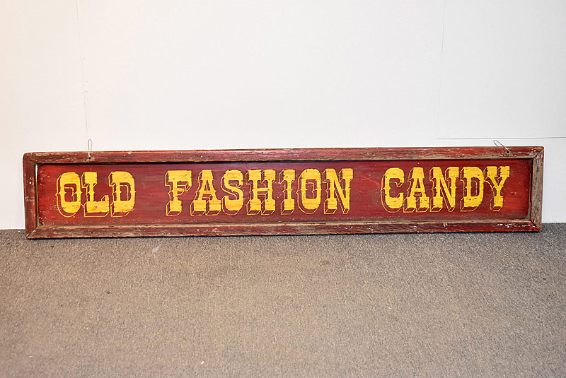335. Old Fashion Candy Painted Metal Sign |  $307.50