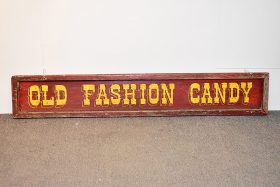 335. Old Fashion Candy Painted Metal Sign    $307.50