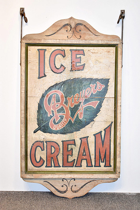 336. Breyers Ice Cream Painted Wood Sign |  $767