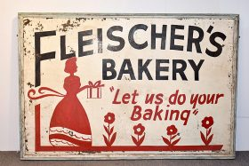 339. Fleischer\'s Bakery Double-Sided Sign    $106.20