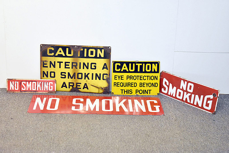 341. Industrial and No Smoking Signage Lot |  $82.60