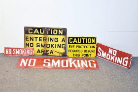 341. Industrial and No Smoking Signage Lot    $82.60