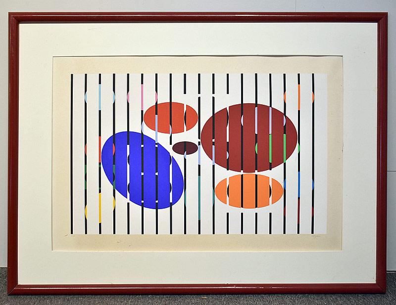 346. Yaacov Agam. Serigraph/Paper, Abstract |  $123