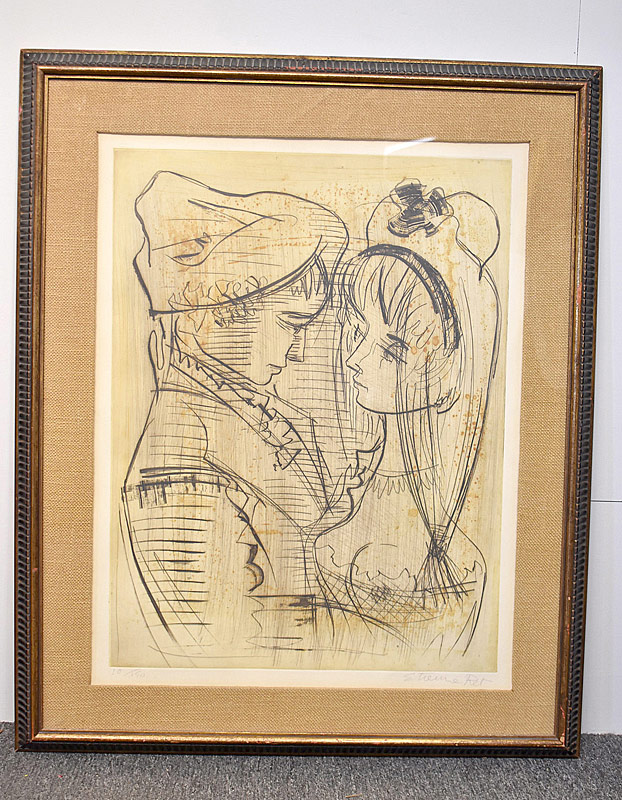 349. Etienne Ret. Etching/Paper, Lovers |  $36.90