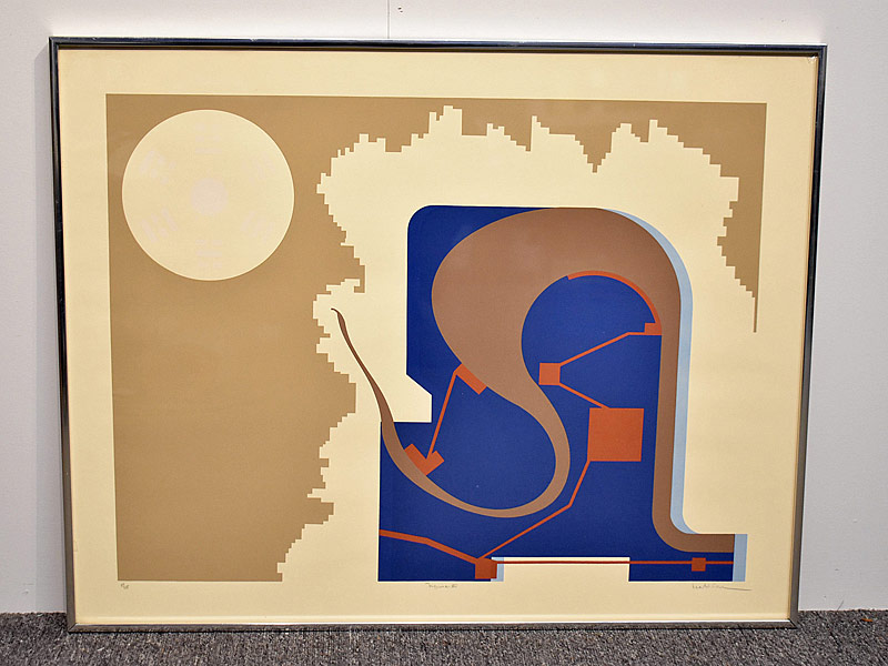 351. Lee Adler. Silkscreen/Paper, Abstract Figure IV |  $70.80