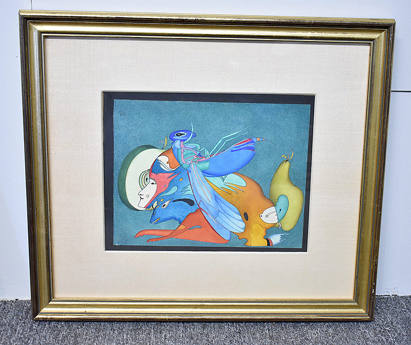 353. Surrealist Watercolor on Paper |  $70.80