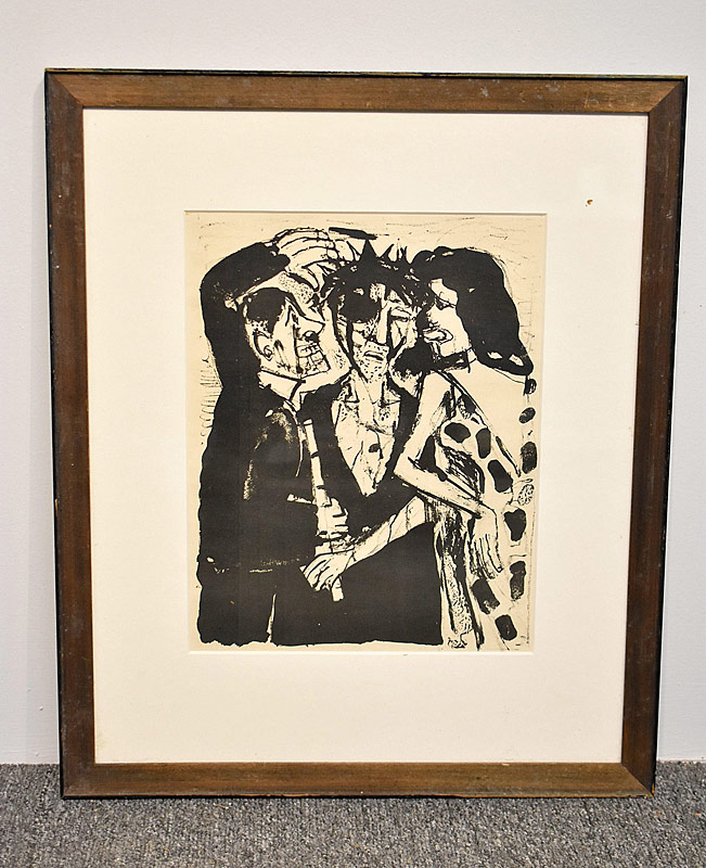 354. Otto Dix. Lithograph/Paper, Three Figures |  $82.60