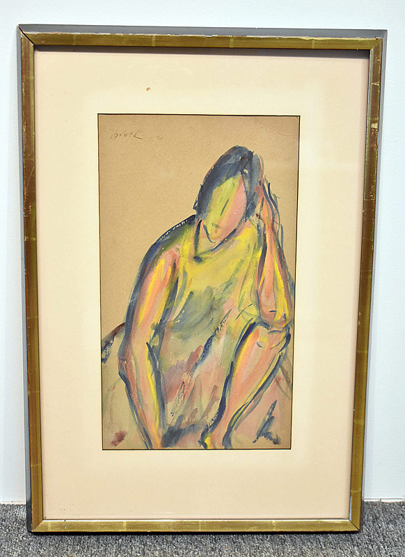 355. Michael Schreck. Watercolor/Paper, Figure |  $35.40
