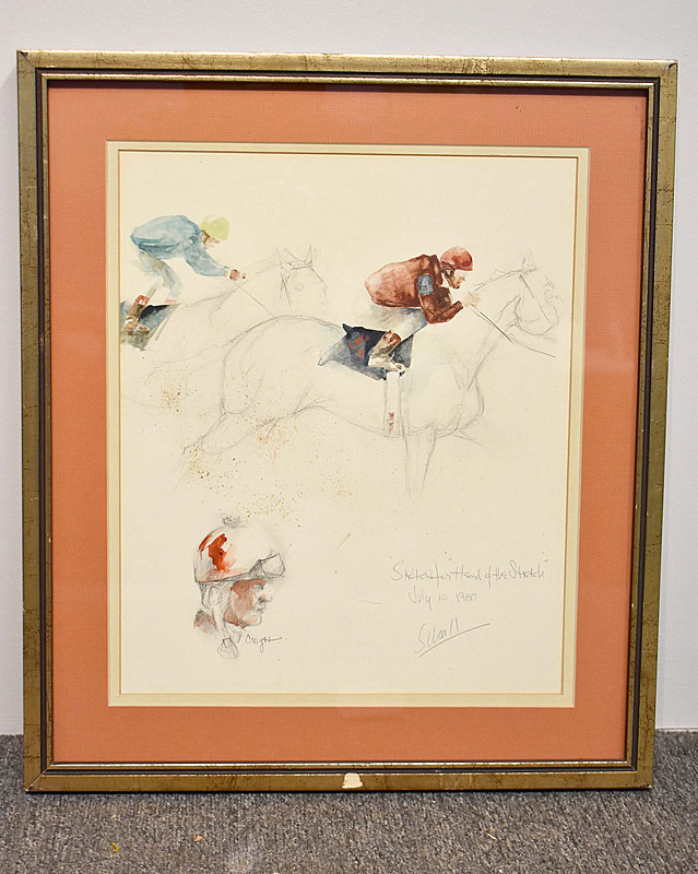 357. Ralph Scharff. Watercolor & Pencil Sketch |  $70.80