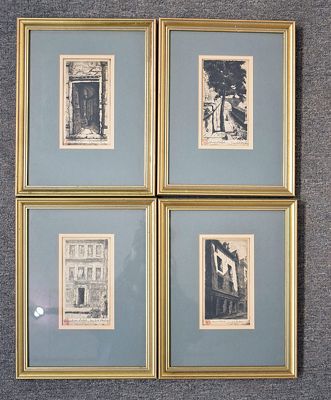 360. Four Dufay Architectural Etchings |  $118