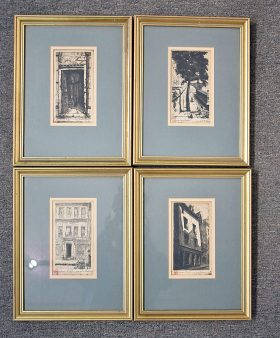 360. Four Dufay Architectural Etchings    $118
