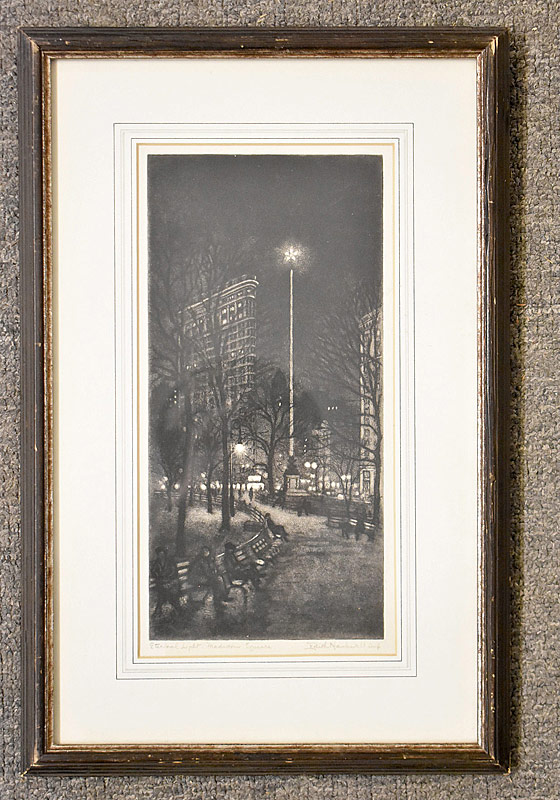 361. Edith Nankivell. Etching with Aquatint, Eternal Light, Madison Square |  $1,353