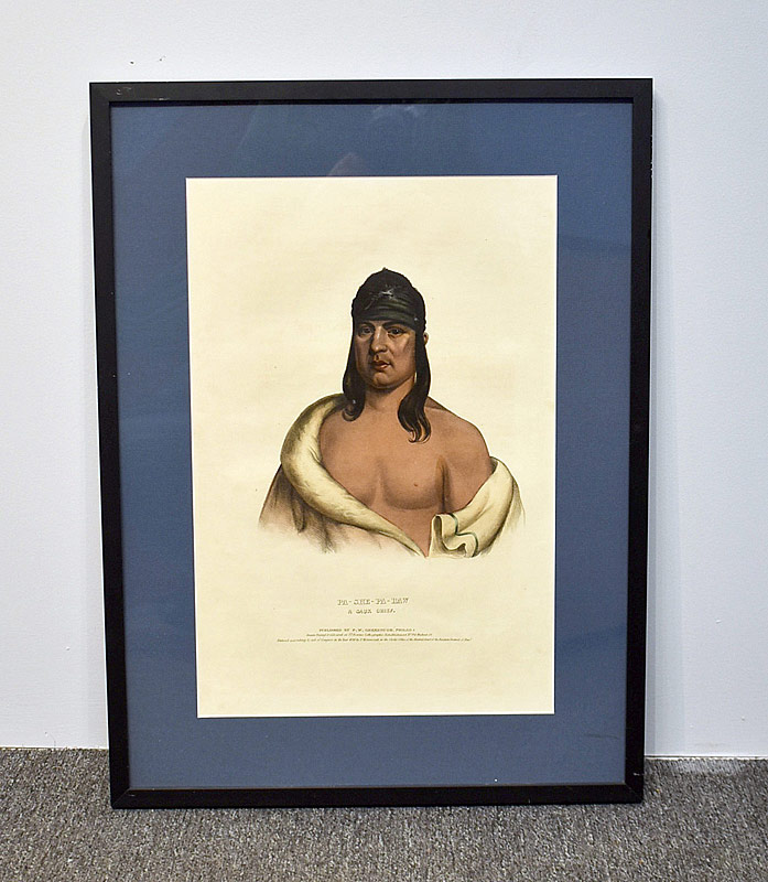 364. McKenney & Hall Lithograph, Pa-She-Pa-Haw |  $98.40