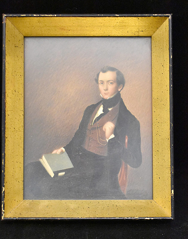 368. 19th C. Watercolor Portrait of Gentleman |  $413