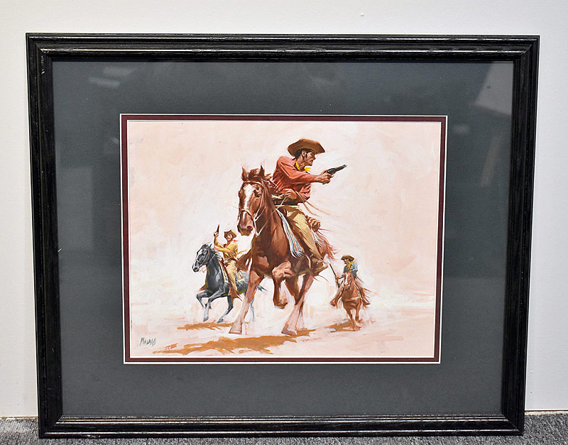379. Joel Malmed. Watercolor/Gouache, Western Illustration |  $123