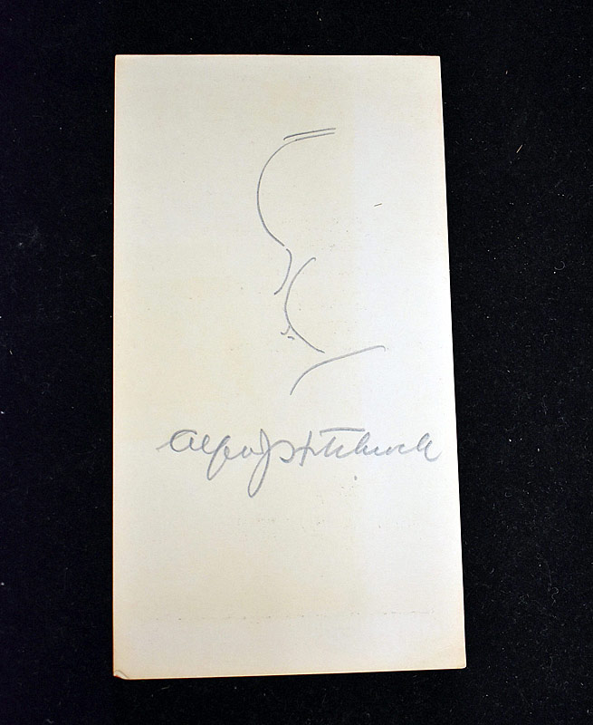 385. Alfred Hitchcock Autographed Pencil Sketch |  $399.75