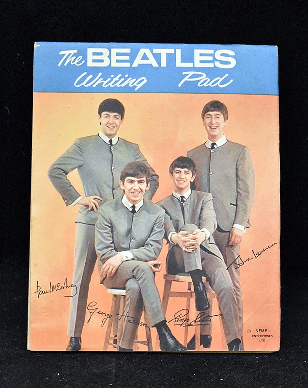 394. 1964 Beatles Original Writing Pad |  $94.40