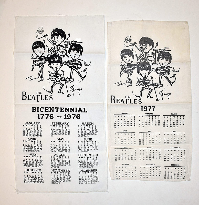 404. Two Beatles Calendar Tea Towels |  $11.80