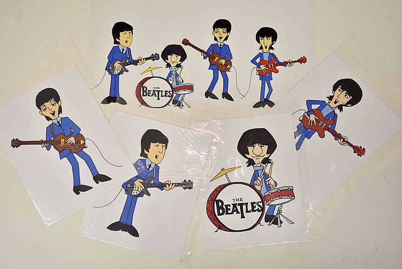 405. Four Beatles Cartoon Poster Prints |  $177