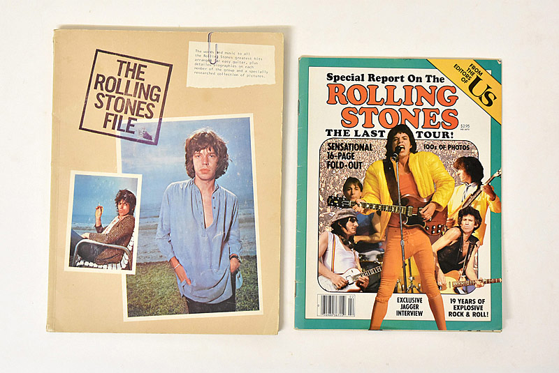 408. Rolling Stones Poster Book and Song Book|  $12.30