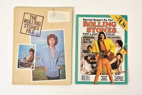 408. Rolling Stones Poster Book and Song Book   $12.30