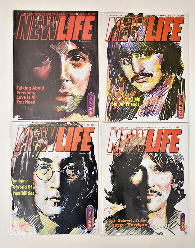 411. 4 Peter Max/Beatles New Life Magazines |  $98.40