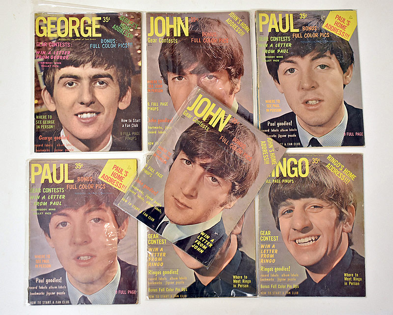 413. Seven Beatles Teen Screen Magazines |  $23.60